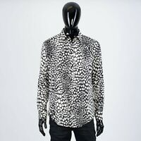 CÉLINE 970$ Men's Classic Shirt In Animal Print Viscose