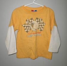 CURIOUS GEORGE youth 3T longsleeves T shirt monkey racing Victory Flag tee