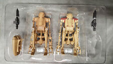 (2) Star Wars Sideshow Battle Droid Security AND Infantry Figures  1/6 1:6 Scale