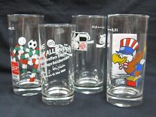 Coca-Cola German Olympic Glass Set of 4