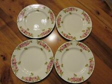 Royal Doulton Roses & Wattle Fish / Salad Plates x4 21.5cm c1936 Made in England