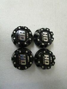 New! Qty (4) STI HD Beadlock HD3 HD4 ATV Wheel Cap 4/110 & 4/115 - Gloss Black
