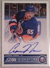 13-14 Score Signatures #SS-AA Aaron Ness-New York Islanders Auto
