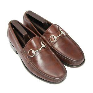 Mens Gucci Horsebit Loafers 1100009 Shoes Dark Tan Brown UK 7  US 7.5  Eu 41 E