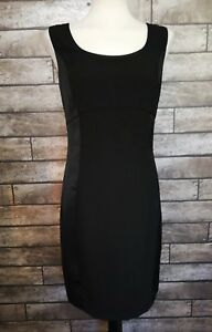 Next Size 10 Black Occasion Shift Dress Fitted LBD Panel Party Occasion BNWT