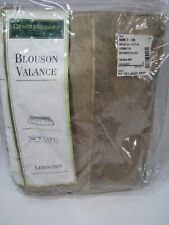 Croscill Classics Blouson Window Valance Lexington Tan Taupe Damask 88 x 15 NEW
