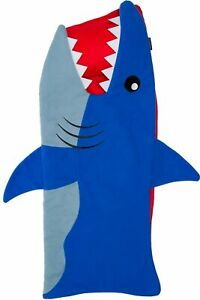 Silver Lilly Shark Nap Mat - Kids Sleeping Bag w/ Attached Blanket and Pillow