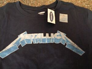 Old Navy Metallica SS T-Shirt Youth Boys Extra Large (14-16) XL Navy Blue NWT
