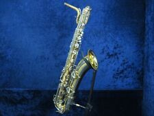 .Conn 12M Mexico Baritone Saxophone Ser#N75763 X Body Brace Big Sounding Horn.