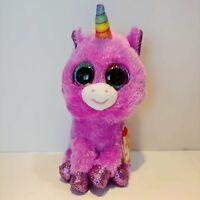 "Rosette the Unicorn - Ty Beanie Boo Plush - Style 36328 - Regular 6"" 15cm - NEW"