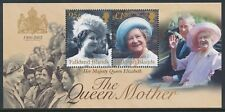 2002 FALKLAND ISLANDS QUEEN MOTHER MEMORIAL MINISHEET FINE MINT MNH