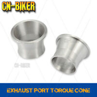 Torque Cones for Harleys Exhaust Not for Other Brand Exhaust Pipes Unique 304 Stainless Steel Power Cone Only for SHARKROAD Whole Exhaust System