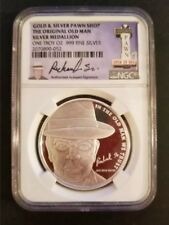 """2015 Pawn Stars """"OLD MAN"""" 1 troy oz .999 Silver Round Coin NGC Certified"""