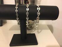 Bracelet Graines Café AU CHOIX Gourmette femme homme Acier Argentée bijoux New