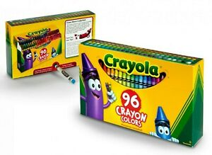 Crayola Crayon Set, 96 Pieces Coloring Set Built-in Sharpener 52-0096  NEW