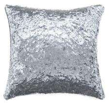 "UK MADE THICK CRUSHED LUXURIOUS VELVET SILVER GREY 24"" CUSHION COVER £9.95 EACH"