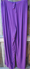 ART TO WEAR 4 PANT IN SOLID IRIS PURPLE BY MISSION CANYON,ONE SIZE, NWT!,