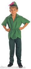 PETER PAN UNISEX HALLOWEEN COSTUME CHILD SIZE MEDIUM 8-10 HAT SHIRT & PANTS