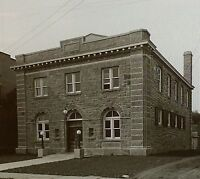 County Clerk's Building in Schoharie NEW YORK 1916 Magic Lantern Glass Slide