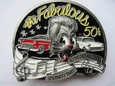 Rock and roll belt buckle the fabulous 50s rocker rockabilly.