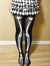 Women Skeleton Bone Skull Tights Punk Pantyhose  Funny Halloween