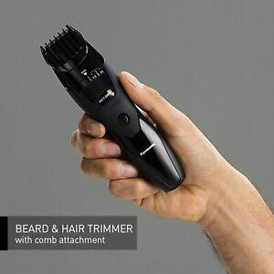 Panasonic ERGB42K Men's Precision Wet/Dry Beard and Hair Trimmer, Black