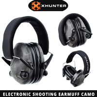 Xhunter Foldable Shooting Hunting Electronic Earmuffs Input Jack Camo Ear Muffs