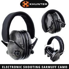 Xhunter Foldable Shooting Hunting Electronic Earmuffs Input Jack Camo Ear Muffs