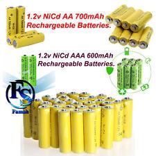 AAA Rechargeable Solar Light Batteries 1.2v 600-700mAh AA NiCd For Garden Lights