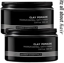 Redken BREWS Clay Pomade Mens Hair Clay 2 x 100ml Duo Pack All hair types RFM