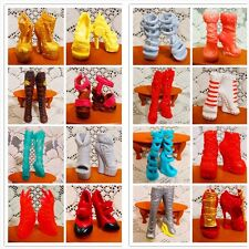 10 Pairs Lot Fashion Shoes Monster High Dolls Accessories Doll Outfit Boots 2017