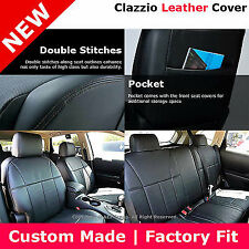 Clazzio Custom Perfect Fit Leather Seat Cover Black For 08-12 Nissan Rogue S