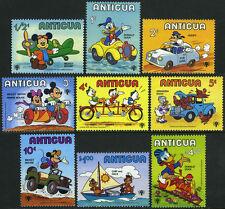 Antigua 562-570,571 S/S, Mnh. Disney Characters.Mickey,Donald, Goofy,Huey,1980