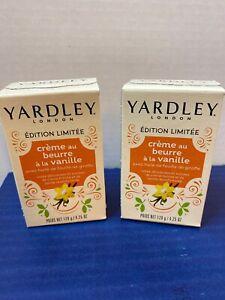 YARDLEY LONDON LIMITED EDITION VANILLA BUTTERCREAM BAR SOAP 4.25 OZ - LOT OF 2