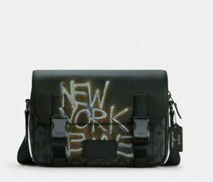 NWT Coach X Jean-Michel Basquiat Track Crossbody In Signature Canvas C5420