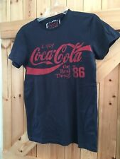 """Coca-Cola T Shirt Too By Cedar Wood State. Size XS Chest 32"""" Black Red Motif"""