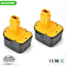 2 pack 12V 2.0Ah Ni-CD Battery For DEWALT XRP DC9071 DW9072 DE9037 DE9072