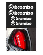 4x Brembo Bremssattel Aufkleber weiß / hitzebeständig!