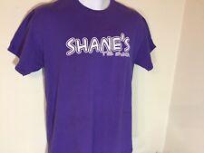 T-SHIRT  M . PURPLE- SHANE'S RIB -SHACK I LIKE PIG BUTTS.. k