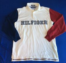 Tommy Hilfiger Spellout Colorblock Button Up Collared Shirt Size XL