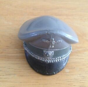 """VINTAGE """"ACTION MAN"""" PANZER CAPTAIN PEAKED CAP WITH DECALS"""