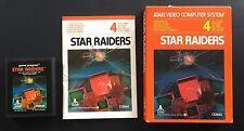 STAR RAIDERS - ATARI GAME - 2600 - WITH BOX AND MANUAL - VINTAGE - VIDEO GAME