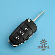Replace Flip Smart Remote Key Shell Case Fob 3 BTN w/ Blade For Audi A4 A6 A8 TT