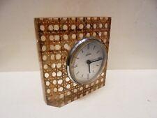 Orologio da tavolo in Paglia di Vienna degli anni 70 Nuovo - Table clock Vintage