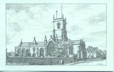 St Mary's Church Bridport Dorset HN Colby pencil sketch postcard