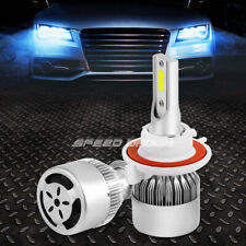 H3 6000K LED LIGHTING SYSTEM HIGH/LOW BEAM HEADLIGHT BULBS PAIR w/COOLING FAN