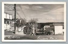Rue Principale—Brownsburg Quebec RPPC Laurentides Vintage Photo CPA Main Street