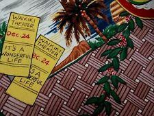 REYN SPOONER Christmas Jingle Bells Record Hawaiian Shirt L Mele Kalikimaka