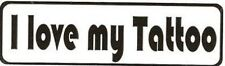 Motorcycle Sticker for Helmets or toolbox #827 I love my tattoo