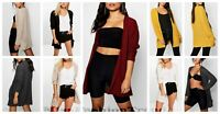 New Ladies Loose Knitted Slouch Open Front Boyfriend Cardigan Winter Sweater Top